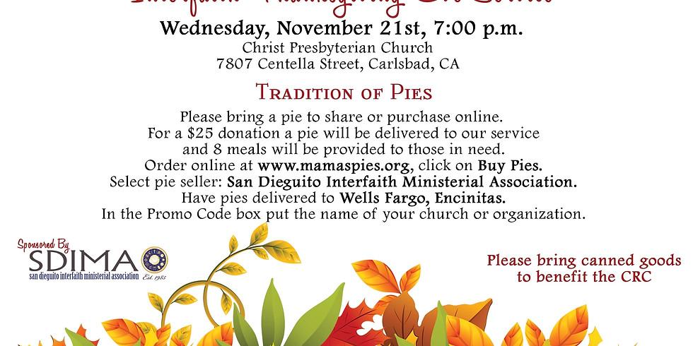 Interfaith Thanksgiving Eve Service