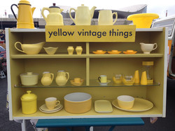 Yellow vintage things