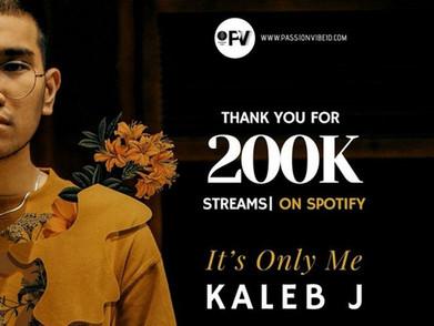 Dua Single Dari Kaleb J Tembus 2 Juta Streaming Di Spotify