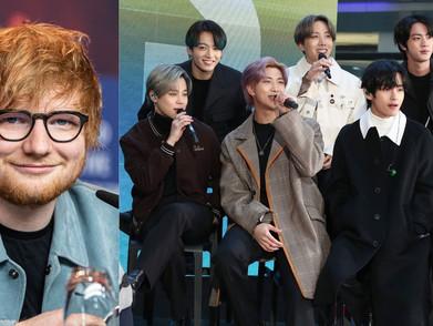 Confirmed! Ed Sheeran berkolaborasi dengan BTS