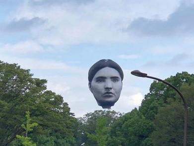 Balon Udara Berbentuk Kepala Manusia Bikin Heboh Kota Tokyo