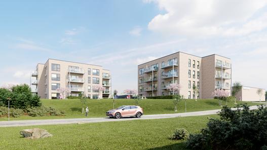 Helsingør Apartment complex Architectural Visualization