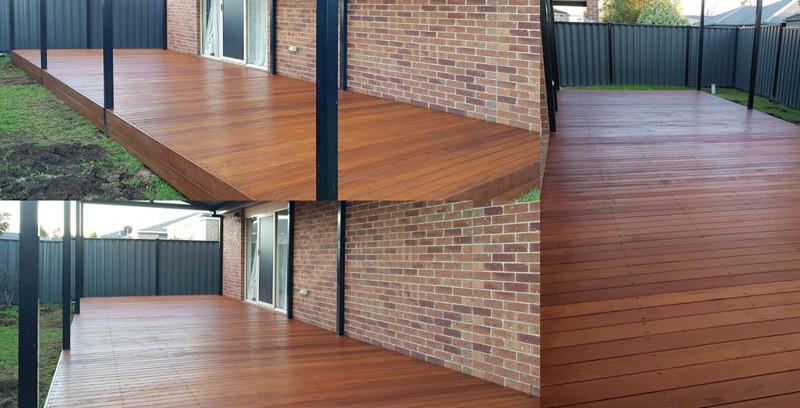 merbau decking installment hardwood stai
