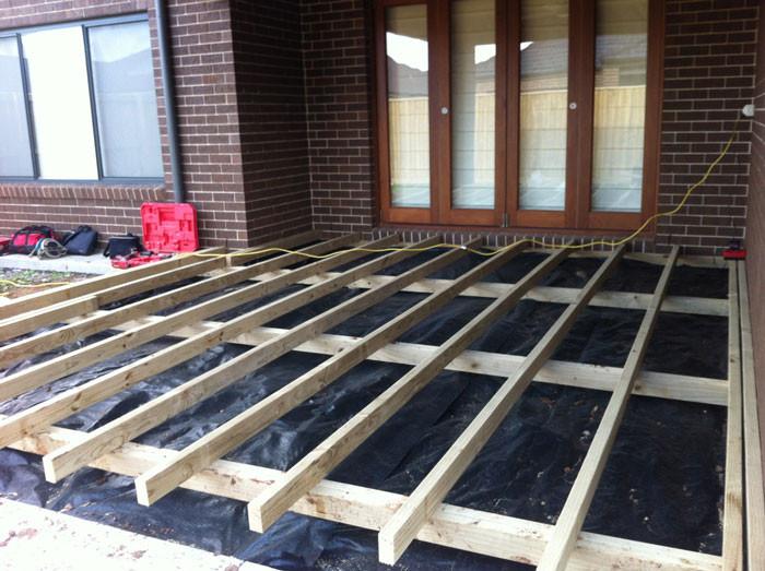 Decking Base Preparation