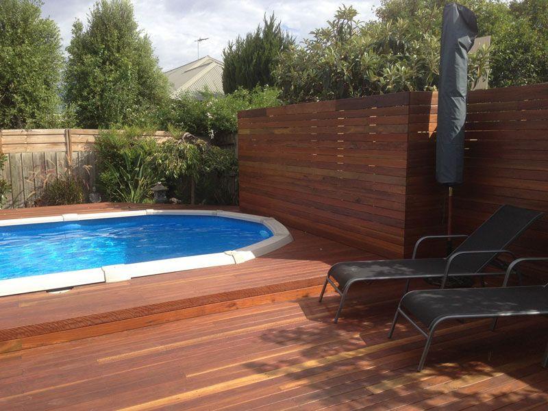 Merbau Decking Timber around the Pool
