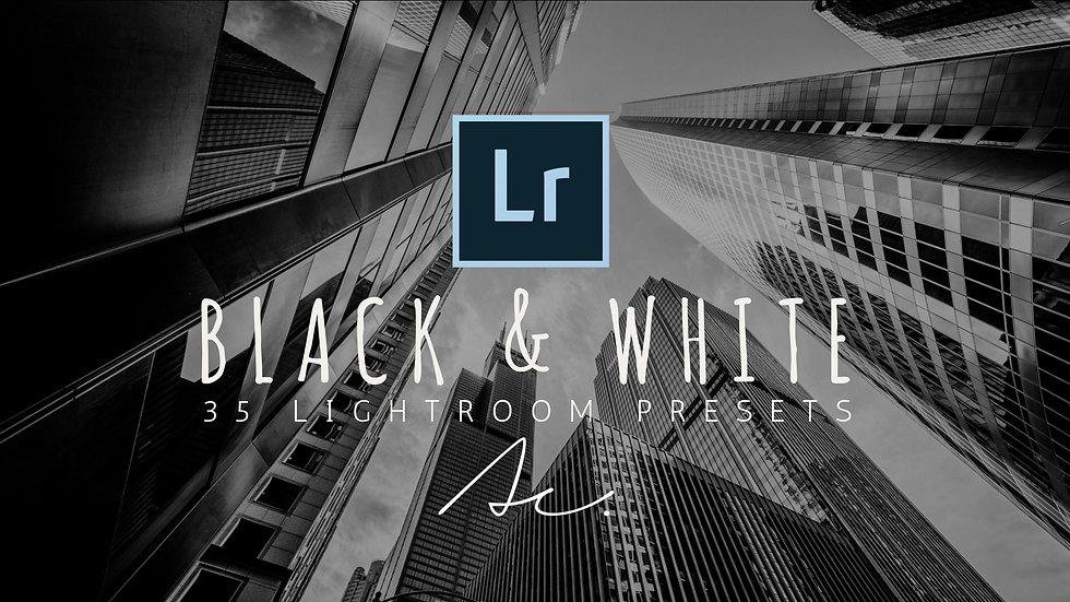 35 Black & White Lightroom Presets