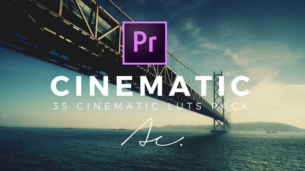 35 Cinematic LUTS Pack Adobe Premiere for video editing