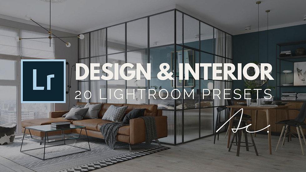 20 Design e Interior Presets profissionais para Adobe Lightroom
