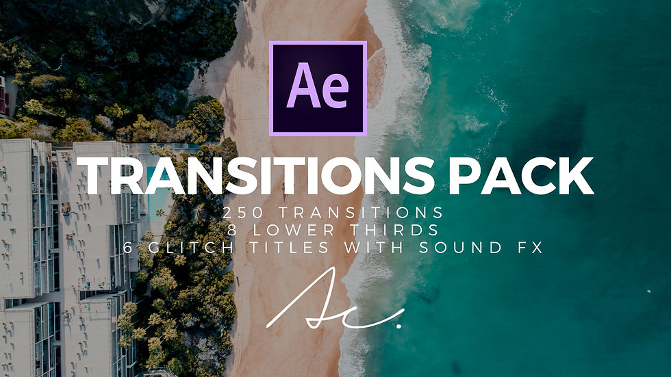 Transitions Pack for After Efects