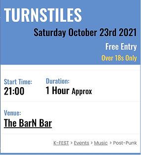 Turnstiles live at K Fest poster