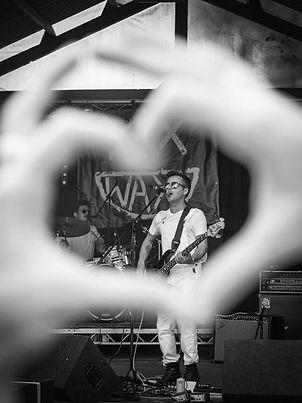 Cornish power pop duo WAXX live on stage