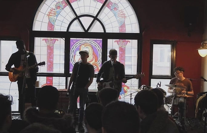 Dublin band Soundstrand playing live