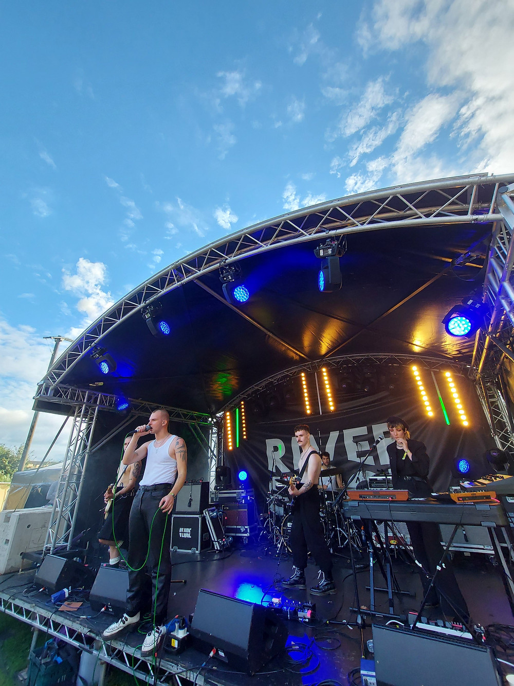 Glasgow band Vlure live on stage