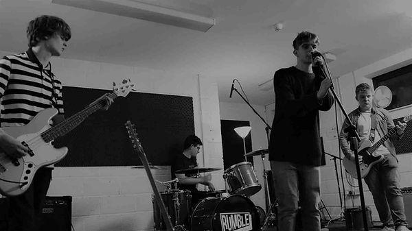 Sligo rock band Some Remain in the studio