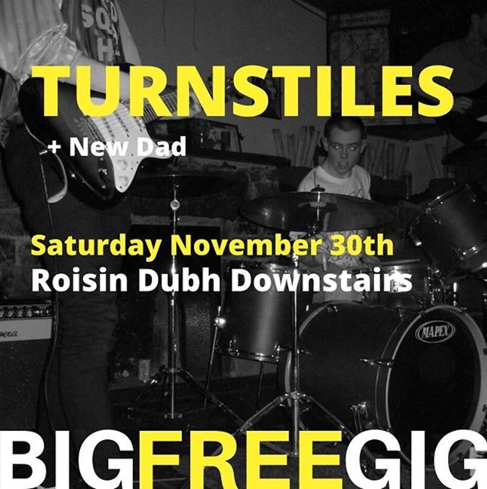 Poster for Turnstiles gig