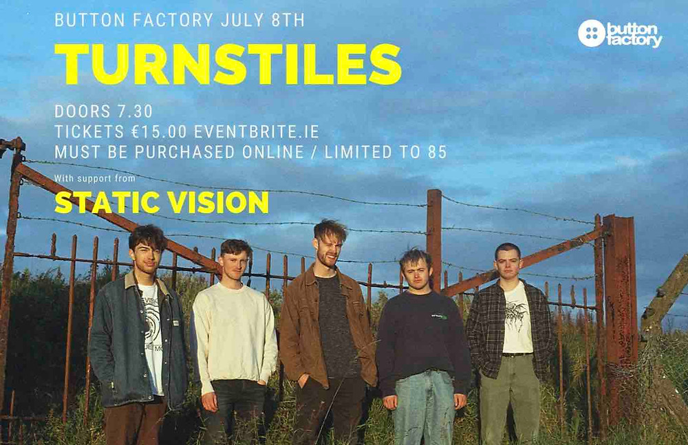 Poster for Turnstiles' Button Factory gig