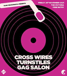 Poster for crosswires gig victoria dalston