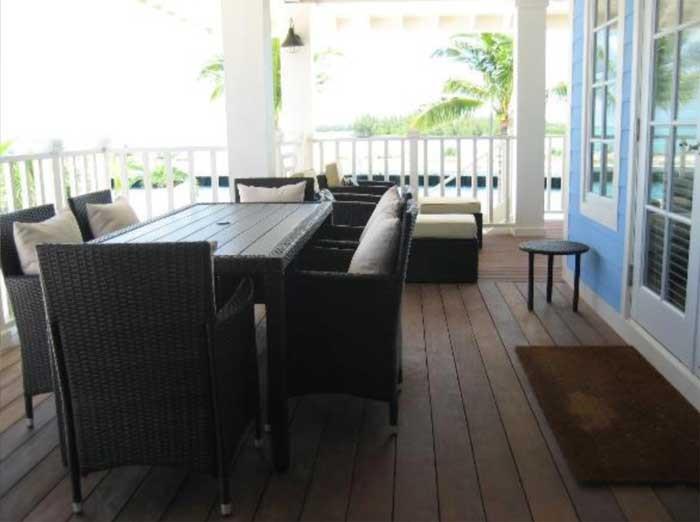 Balcony on Chub Cay villa