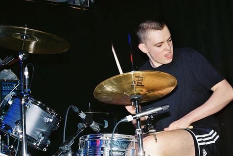 Luke Mulliez drumming