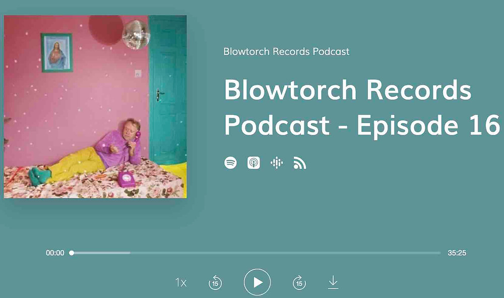Cover for Blowtorch Records podcast episode 16