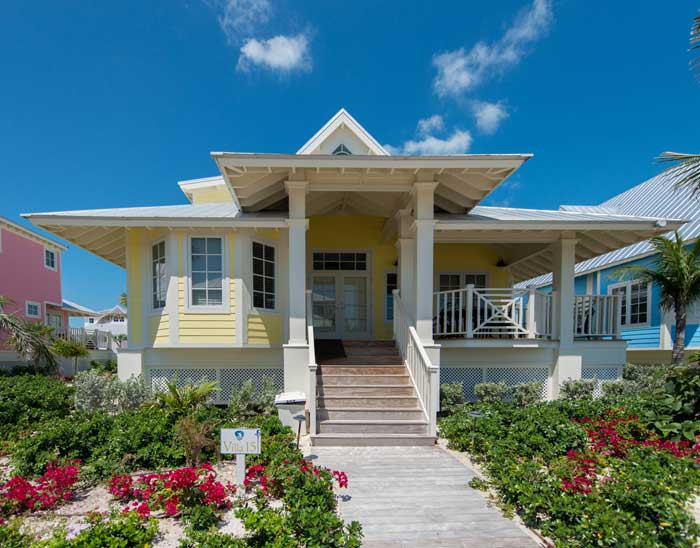 Front view of villa on Chub Cay