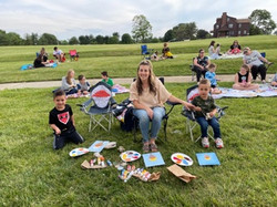 Children Painting with adult