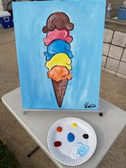 Painting of Ice Cream Cone
