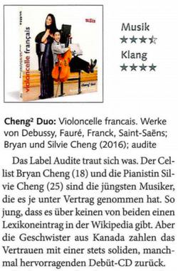 Cheng² Duo: Violoncelle français