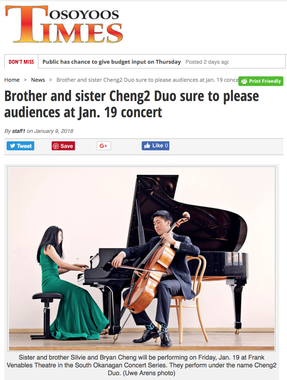 Cheng² Duo sure to please audiences