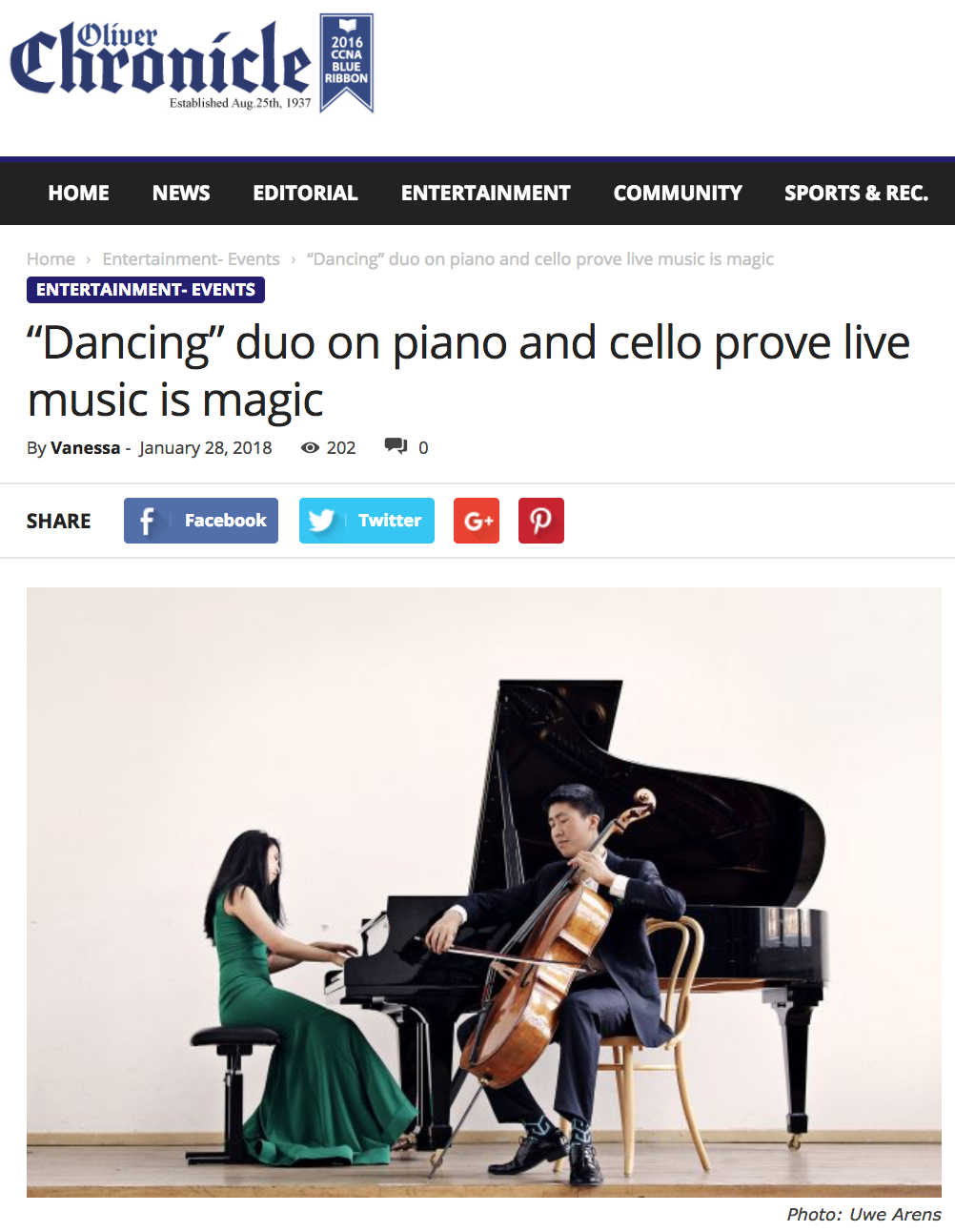 Duo proves live music is ma