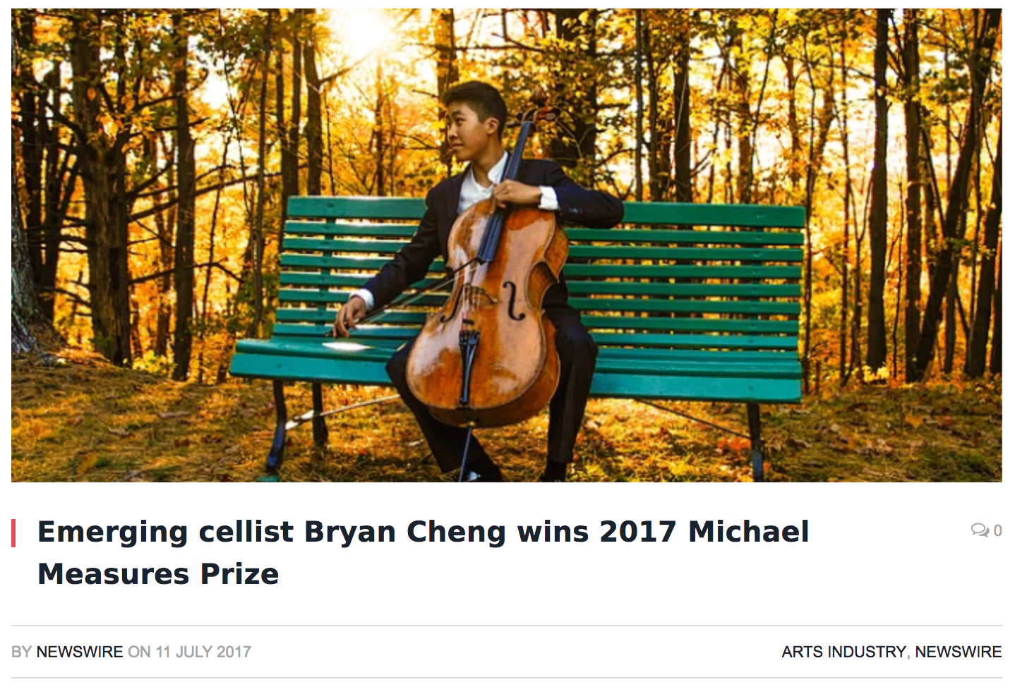 Bryan Cheng wins Michael Measures