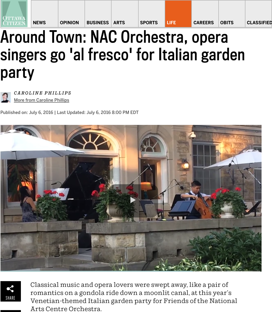 Around Town: Italian garden party