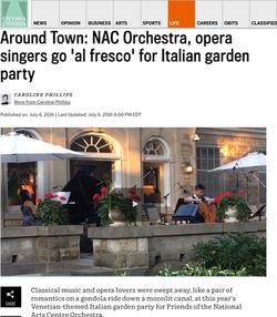 Around Town: Italian garden party