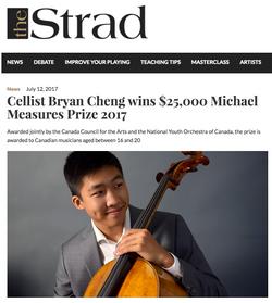 Cellist wins Michael Measures Prize