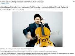 Cellist Bryan Cheng honours mentor