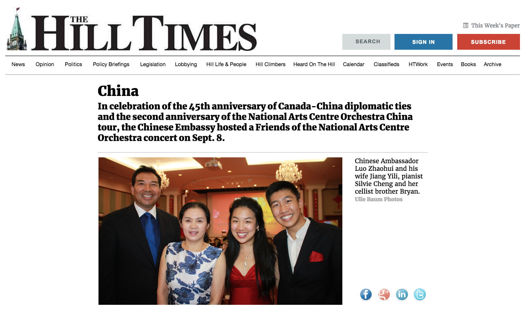 Canada-China 45th anniversary