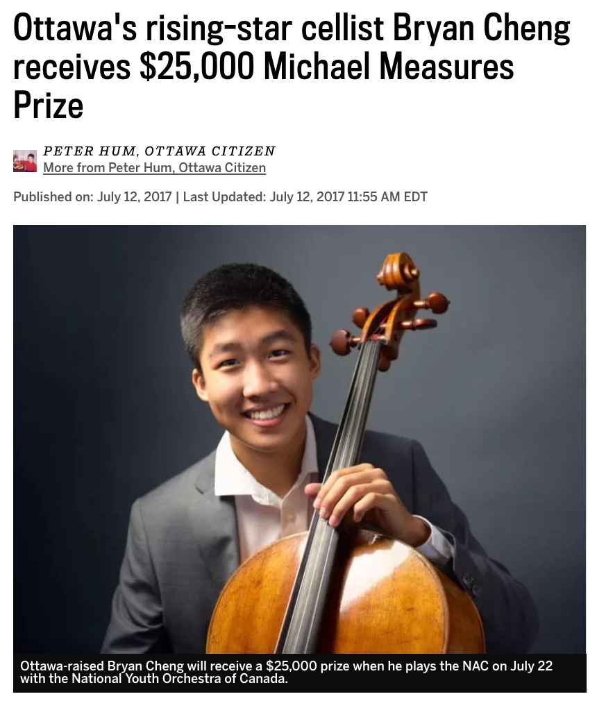 Rising-star cellist receives prize
