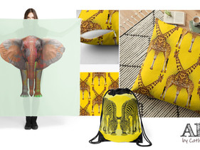 New range of products available from my the Redbubble shop - 'Africa'