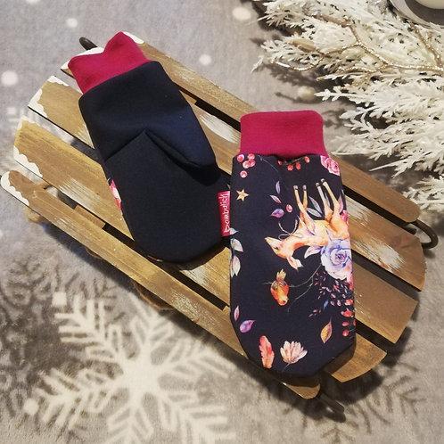 Bambulich softshellové rukavice SRNEČCI
