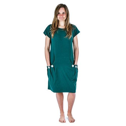 Bambulich šaty ELEONOR lahvově zelené