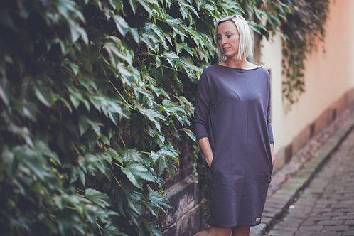Bambulich podzimní/jarní šaty VALENTÝNA tmavě šedé