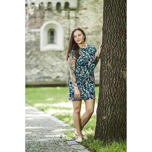 Bambulich šaty AGÁTA borůvkové