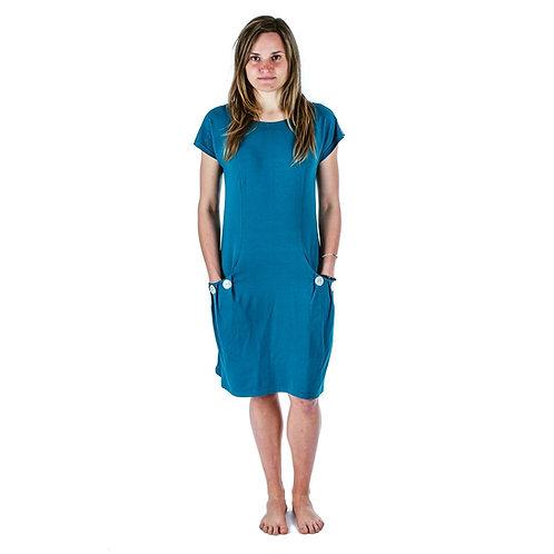 Bambulich šaty ELEONOR petrolejové