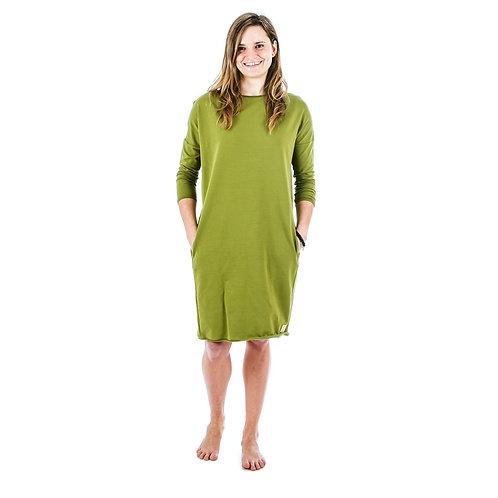 Bambulich podzimní/jarní šaty VALENTÝNA travnaté