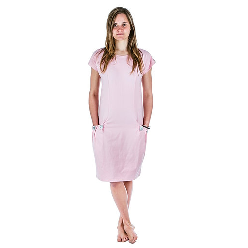 Bambulich šaty ELEONOR starorůžové