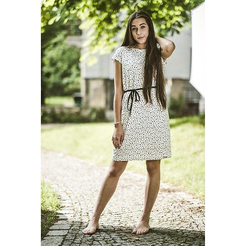 Bambulich šaty AGÁTA černobílé