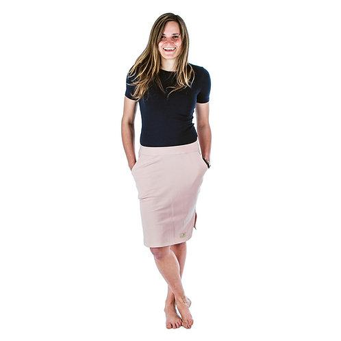 Bambulich jarní sukně YVETT starorůžová