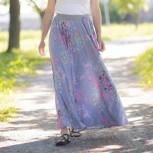 Bambulich letní MAXI sukně růžové květy