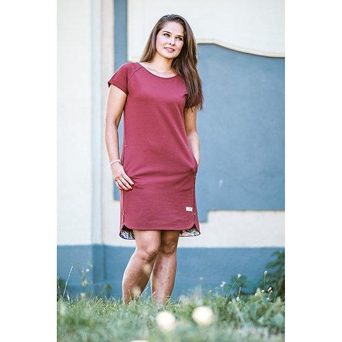 Bambulich podzimní šaty CIHLOVÁ