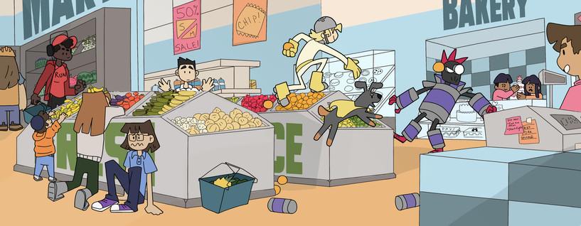super hero market 3 pan characters- colo